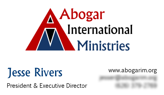 <h4>Abogar International Ministries' Business Cards</h4>