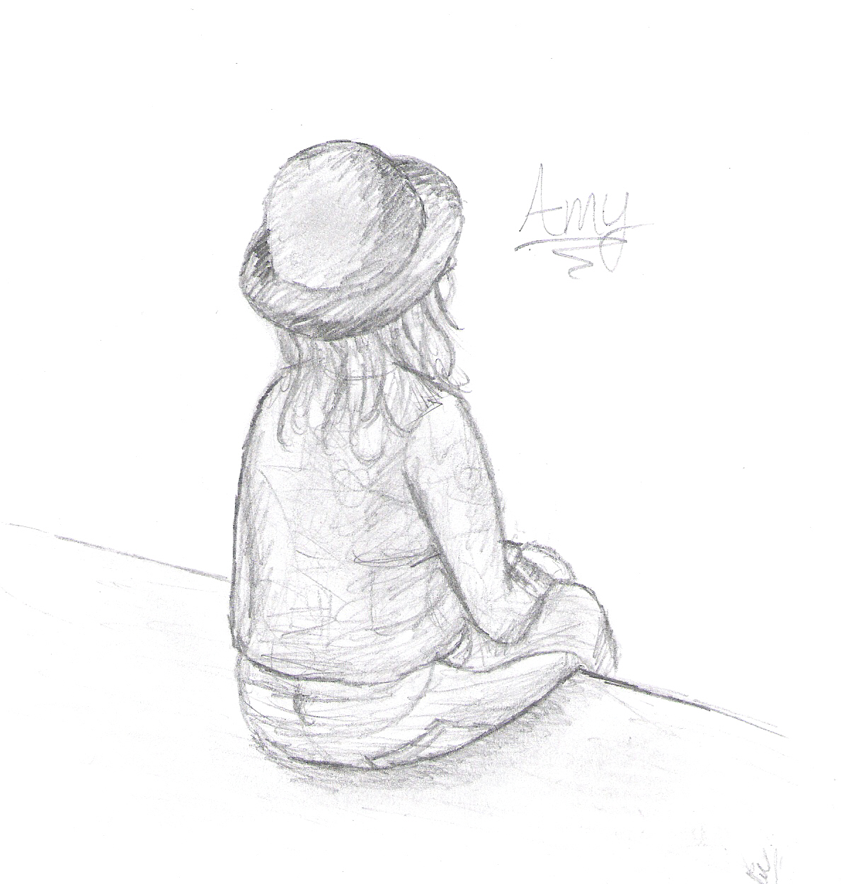 <h4>Amy</h4>  A quick sketch of an old friend.