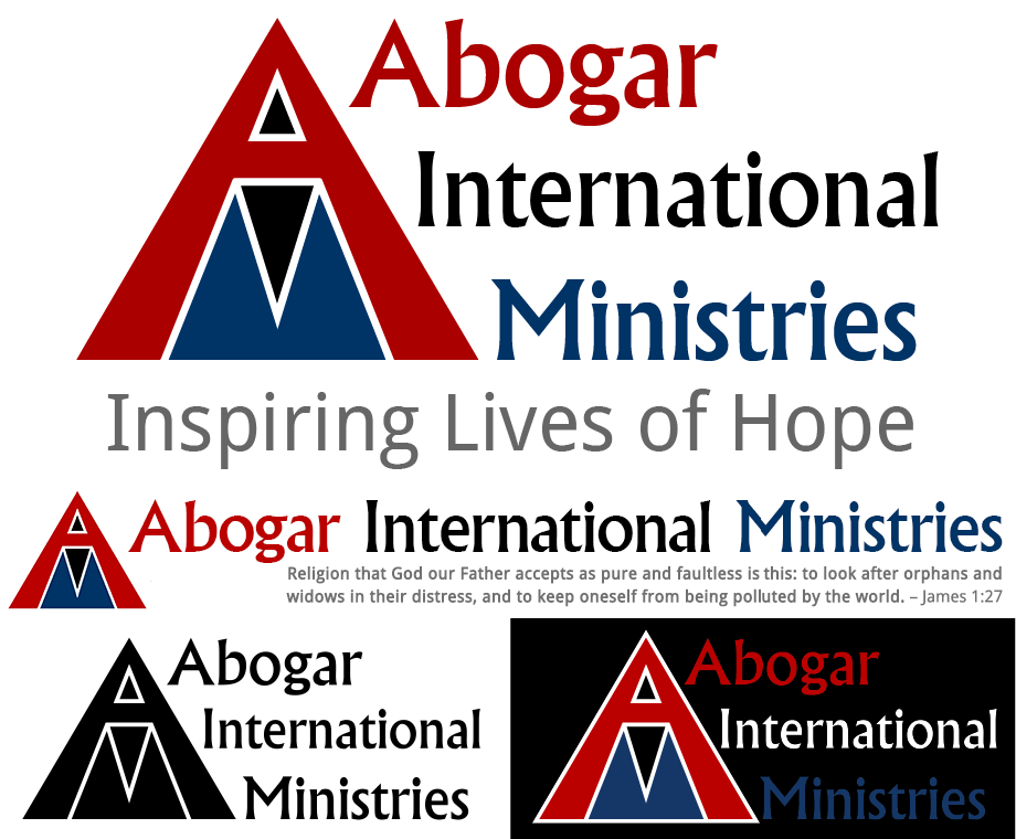 "<h4>Abogar International Ministries Logo</h4> 				 				Abogar Internationa Ministries' founder had <a href=""http://abogarim.org/about/structure-for-abogarim/"" target=""_blank;"">thought about it a lot</a>, and had a pretty clear idea of what he wanted for their logo – the letters A, I, and M written on top of each other in a triangle, in red, black, and blue – so I found the right shades of those colors, took his concept and brought it to life with a bit of a twist.<br /><br />(Logo design and alternate presentations)"