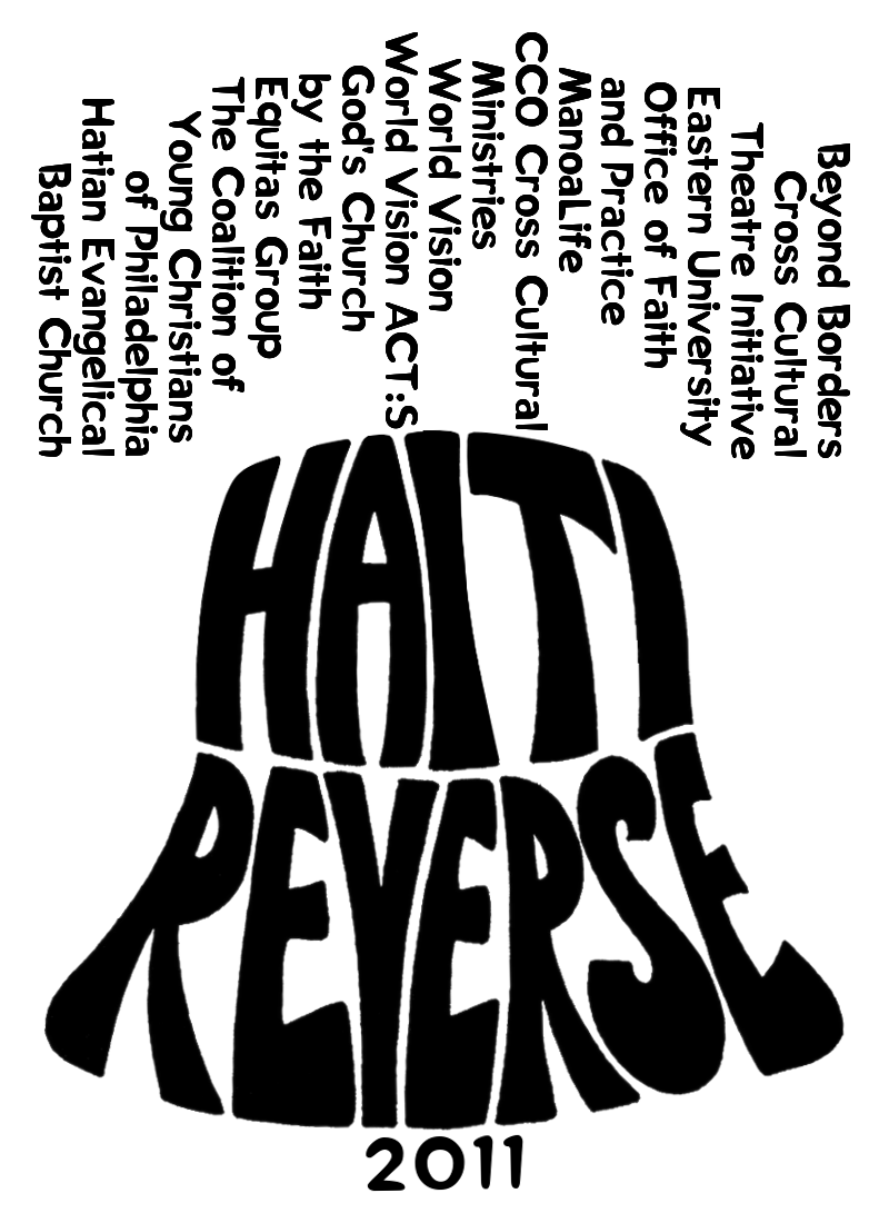 "<h4>Haiti Reverse Mission Trip Logo</h4> 				 				In the chaos that followed the 2010 earthquake in Haiti, some local churches and organizations decided on a different take on the traditional ""missions trip"" – instead of going to Haiti to try to help, they'd stay close to home and partner with Haitian-American churches on service projects in Philadelphia to learn about Haitian culture and build community... and send the money that would have gone to travel expenses directly to people and organizations already working effectively in Haiti.<br /><br />I created the logo in the shape of the Liberty Bell, since the actual ""trip"" is to Philly, with the participating organizations forming the yoke of the bell."