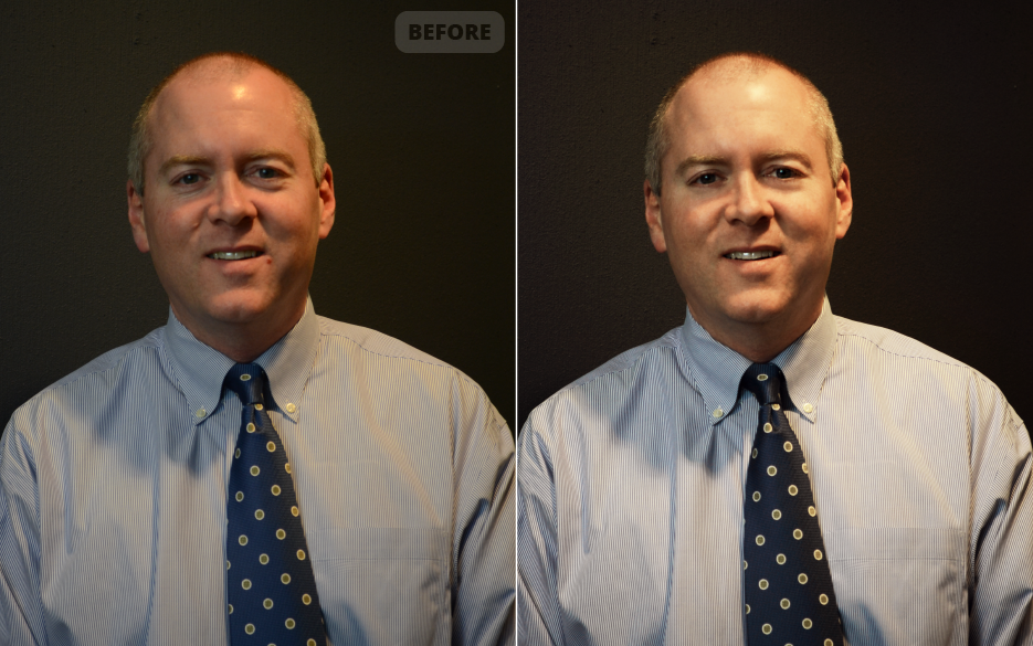 <h4>Matt's Headshots</h4> 				 				Adjusted the exposure and color, and a few little touch-ups, and Matt's lookin' sharp!