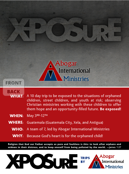 <h4>X-POSurE Trip Postcard</h4> 				 				A straight-forward informational postcard to let folks know about an upcoming trip.