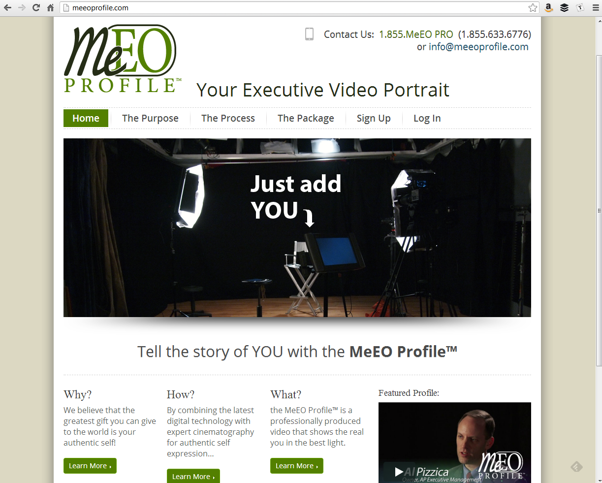 """<h4>MeEOProfile.com</h4>  The MeEO Profile™ website is powered by WordPress and a modified version of the <a href=""""http://wordpress.org/extend/themes/infoway"""" target=""""_blank"""">InfoWay theme</a>, with paid memberships, online appointment scheduling, and a custom-built """"Digital Video Business Card"""" for members.  MeEO Profile has been totally revamped since this iteration – <a href=""""http://www.laurensell.com/portfolio/web/#prettyPhoto[portfolio]/0/"""" target=""""_blank"""" class=""""link"""">Check out the redesign! →</a>"""